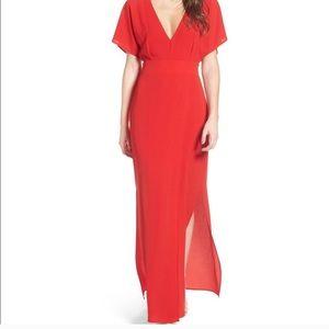 WAYF Carrara Slit Maxi Dress sz M
